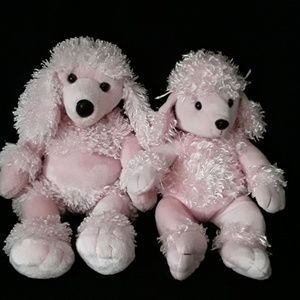 Build-A-Bear Pink Poodles Set of 2 Momma & Baby